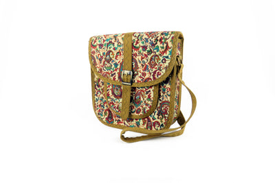 Women's Crossbody Bag - Wool Persian Carpet