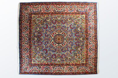 Kerman Square 195×198 cm - Wool Persian Carpet