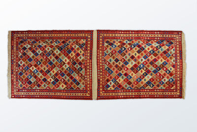 Varni Needle texture Pair Runner 85×216 Cm - Wool Persian Carpet