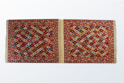 Varni Needle texture Pair Runner 83×206 Cm - Wool Persian Carpet