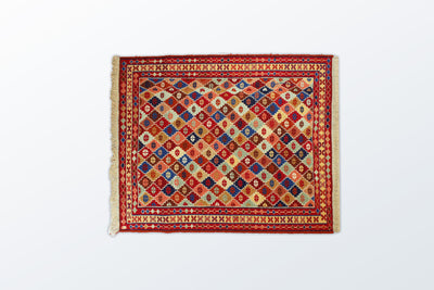 Varni Needle texture Zarocharak 85×103 cm - Wool Persian Carpet