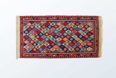 Varni Needle texture Zarocharak 53×102 Cm - Wool Persian Carpet