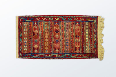 Varni Needle texture Zarocharak 52×95 Cm - Wool Persian Carpet