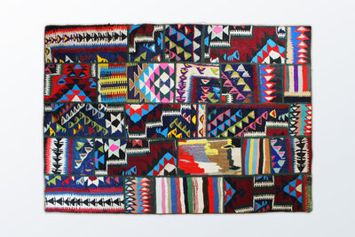 Kilim Patchwork 137×196 cm - Wool Persian Carpet