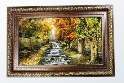 Framed Carpet 119×79 cm - Wool Persian Carpet