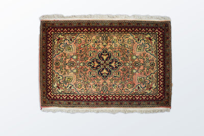 Qom Zarocharak 63 × 95 Cm - Wool Persian Carpet