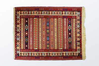 Varni Needle texture Zaronim 107×137 Cm - Wool Persian Carpet