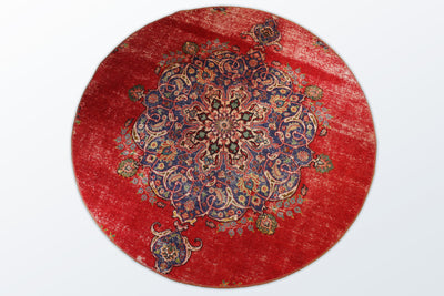 Circle Vintage 204 cm (dm) - Wool Persian Carpet