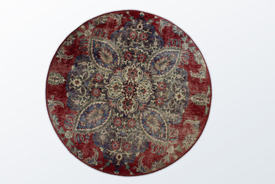 Circle Vintage 126 cm (dm) - Wool Persian Carpet