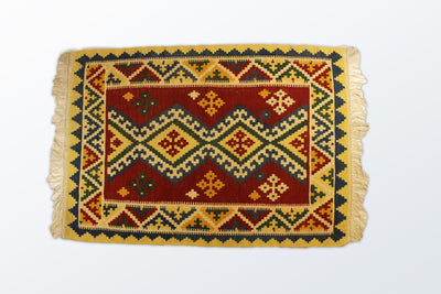 Kilim Qashghaee Zaronim 105×150 cm - Wool Persian Carpet