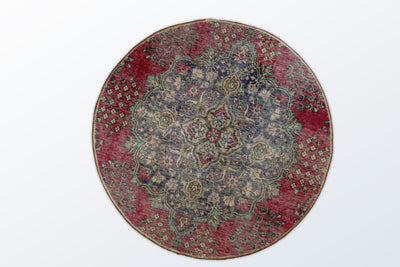 Circle Vintage 120 cm (dm) - Wool Persian Carpet