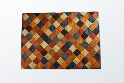 Leather Patchwork 98×140 cm - Wool Persian Carpet