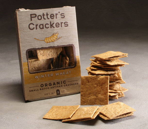Potter's Crackers Organic Wheat Artisan Crackers