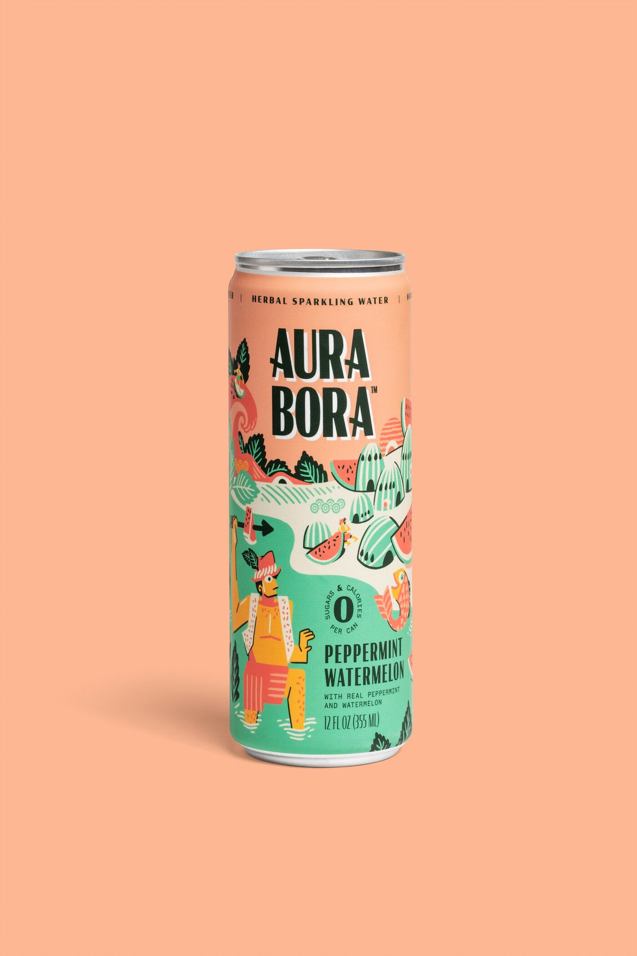 Aura Bora herbal sparkling water