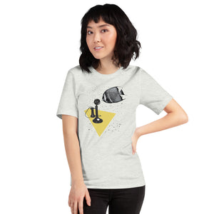 Vintage Collage Artwork Print T-shirt | Short-Sleeve Unisex T-Shirt Fish