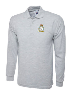 90SU CREST Embroidered Long Sleeve Polo Shirts - The Forces Shop