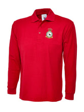 Load image into Gallery viewer, 90SU CREST Embroidered Long Sleeve Polo Shirts - The Forces Shop