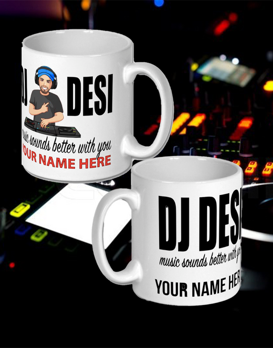 DJ DESI MUG PHOTO CARTOON