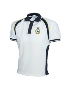 90SU CREST Embroidered Tripple Colour Polo Shirt - The Forces Shop