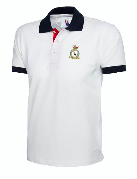 90SU CREST Embroidered Contrast Colour Poloshirt - The Forces Shop