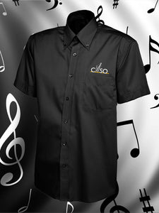 CNSO - UC702 Men's Black Short Sleeve Oxford Shirt