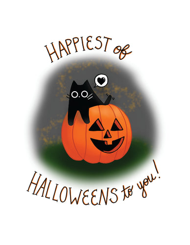 Happiest of Halloween's to You! Postcard