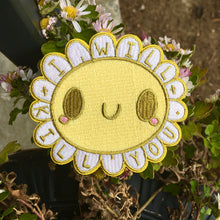 "Load image into Gallery viewer, ""I Will Kill You"" Daisy Embroidered Patch"