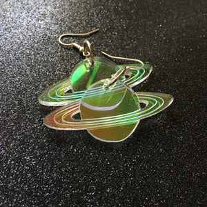 PREORDER* Iridescent Planet Earrings