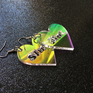 PREORDER* Iridescent Slut Earrings