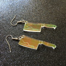 Load image into Gallery viewer, Iridescent Cleaver Earrings
