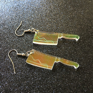 PREORDER* Iridescent Cleaver Earrings