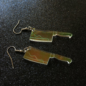 Iridescent Cleaver Earrings
