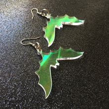 Load image into Gallery viewer, PREORDER* Iridescent Bat Earrings