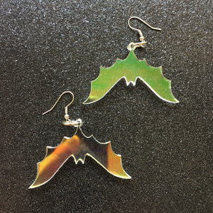 PREORDER* Iridescent Bat Earrings