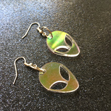 Load image into Gallery viewer, PREORDER* Iridescent Alien Earrings