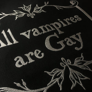 """All Vampires are Gay"" XL Tote Bag"