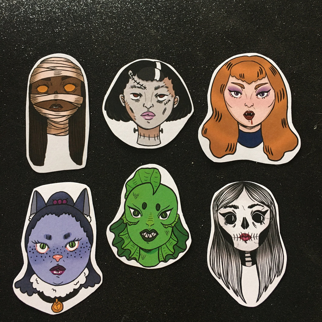 Beastly Babes Sticker Pack
