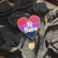 Load image into Gallery viewer, Bi Babe Heart Enamel Pin