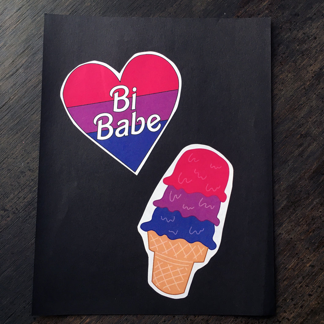 Bi Scream // Bi Babe Heart Sticker