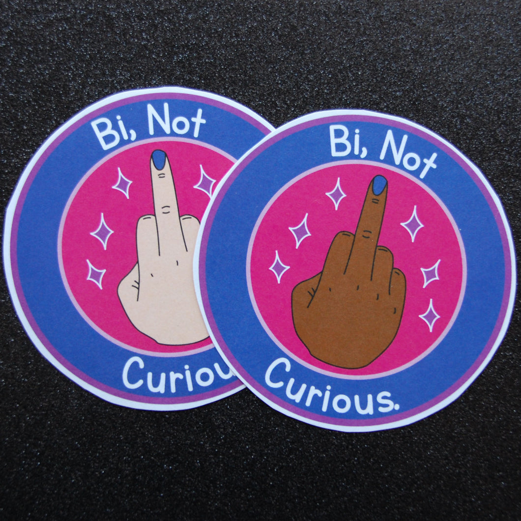 Bi not Curious Sticker