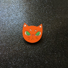 Load image into Gallery viewer, I Will Bite - Handpainted Cat Face Wooden Pin