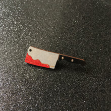 Load image into Gallery viewer, Glittery Blood Knife or Cleaver - Handpainted Pin