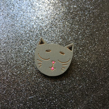 Load image into Gallery viewer, I Love Catnip - Handpainted Cat Face Wooden Pin