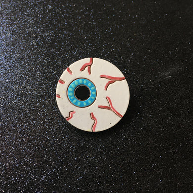 An Eye for An Eye - Handpainted Wooden Pin