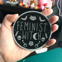 Load image into Gallery viewer, Feminist Witch Woven Patch