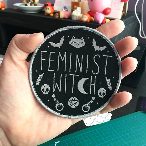 Feminist Witch Woven Patch