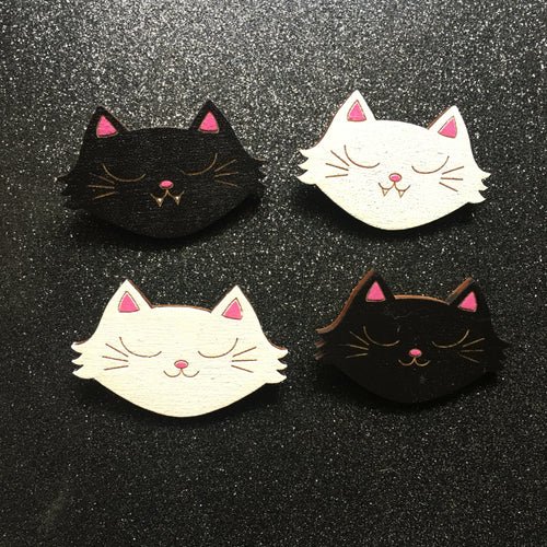 I Just Fucking Love Cats - Handpainted Wooden Pin