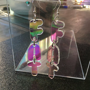 PREORDER Iridescent FAT Dangly Earrings