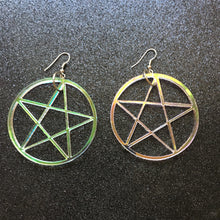 Load image into Gallery viewer, Iridescent Pentacle Earrings
