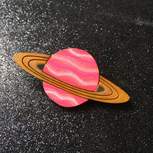 Planets! - Handpainted Wooden Pin